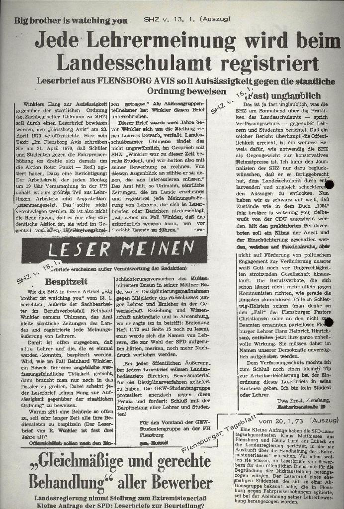 Marxistischer Schülerbund: Info, 3. Jg., Nr. 4, Lübeck, Februar 1973, Beilage 1, Seite 2