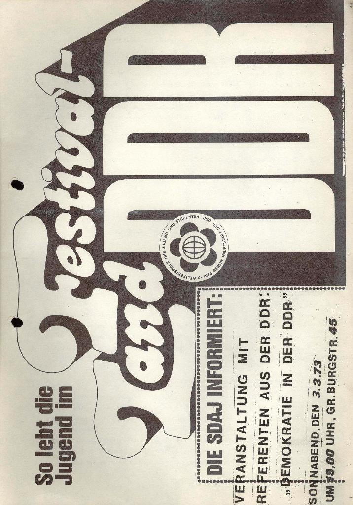 Marxistischer Schülerbund: Info, 3. Jg., Nr. 4, Lübeck, Februar 1973, Beilage 2, Seite 1