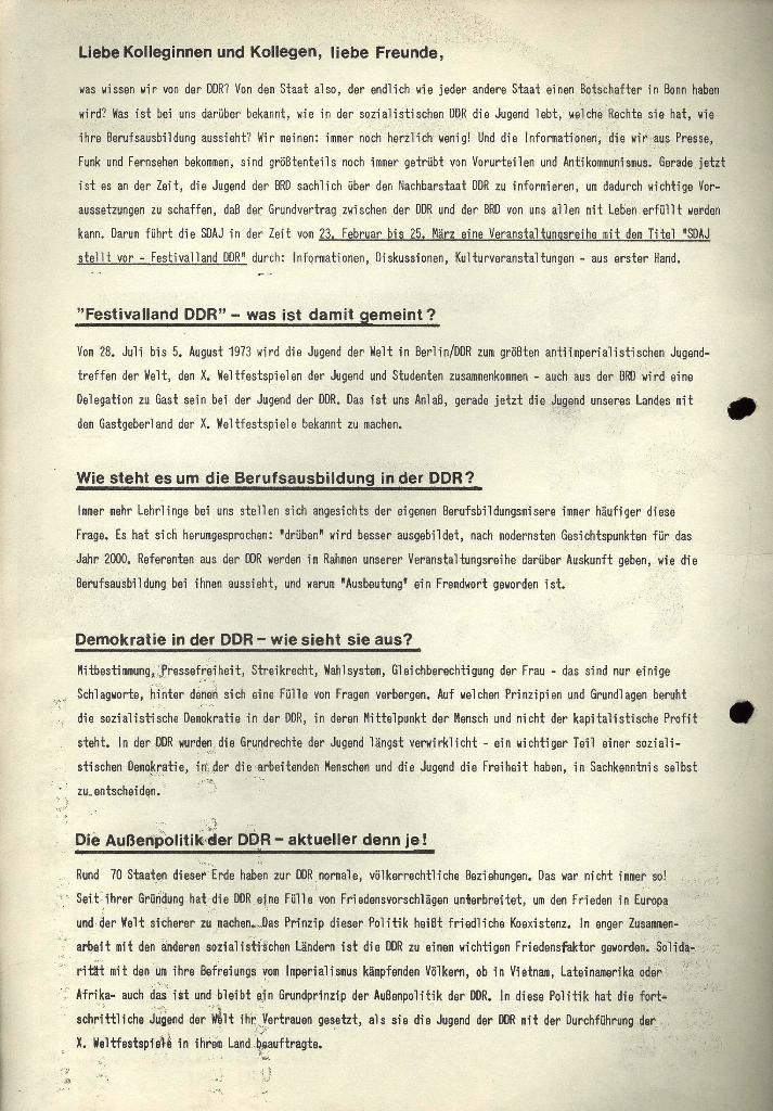 Marxistischer Schülerbund: Info, 3. Jg., Nr. 4, Lübeck, Februar 1973, Beilage 2, Seite 2