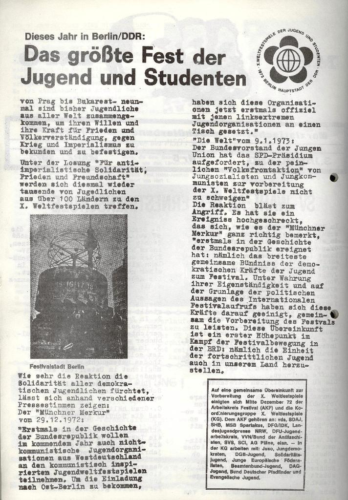 Marxistischer Schülerbund: Info, 3. Jg., Nr. 5, Lübeck, März 1973, Seite 2