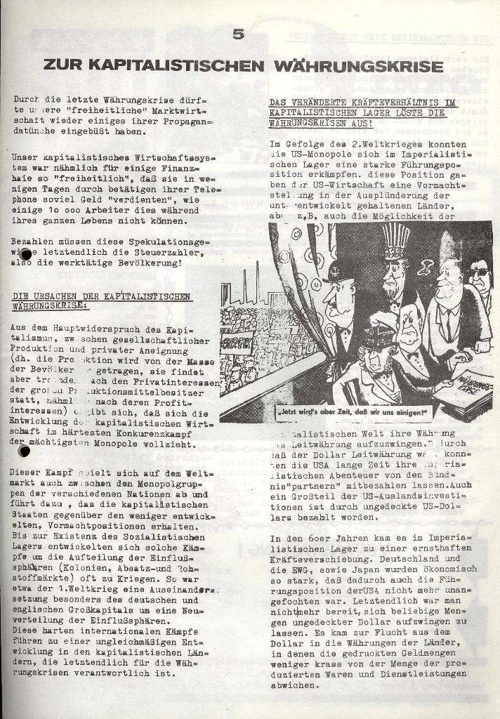 Marxistischer Schülerbund: Info, 3. Jg., Nr. 5, Lübeck, März 1973, Seite 5