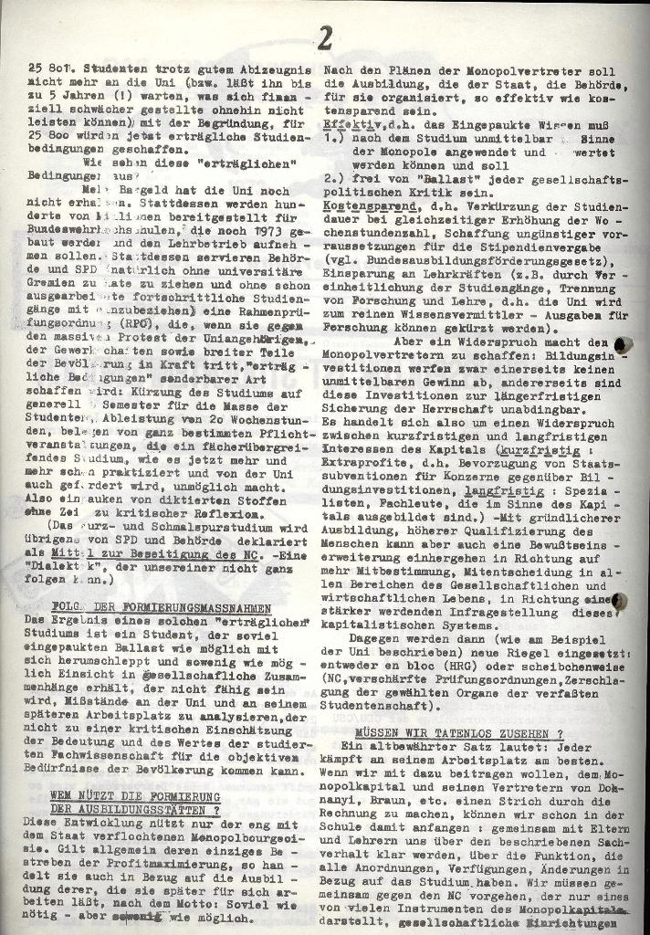 Marxistischer Schülerbund: Info, 3. Jg., Nr. 6, Lübeck, März 1973, Seite 2