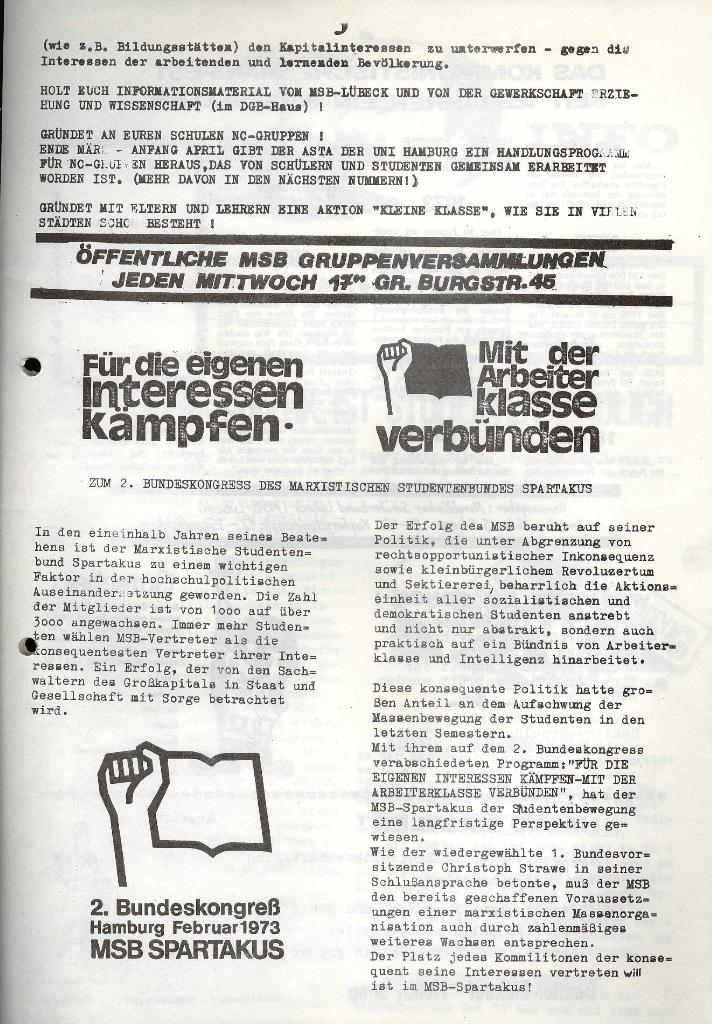 Marxistischer Schülerbund: Info, 3. Jg., Nr. 6, Lübeck, März 1973, Seite 5