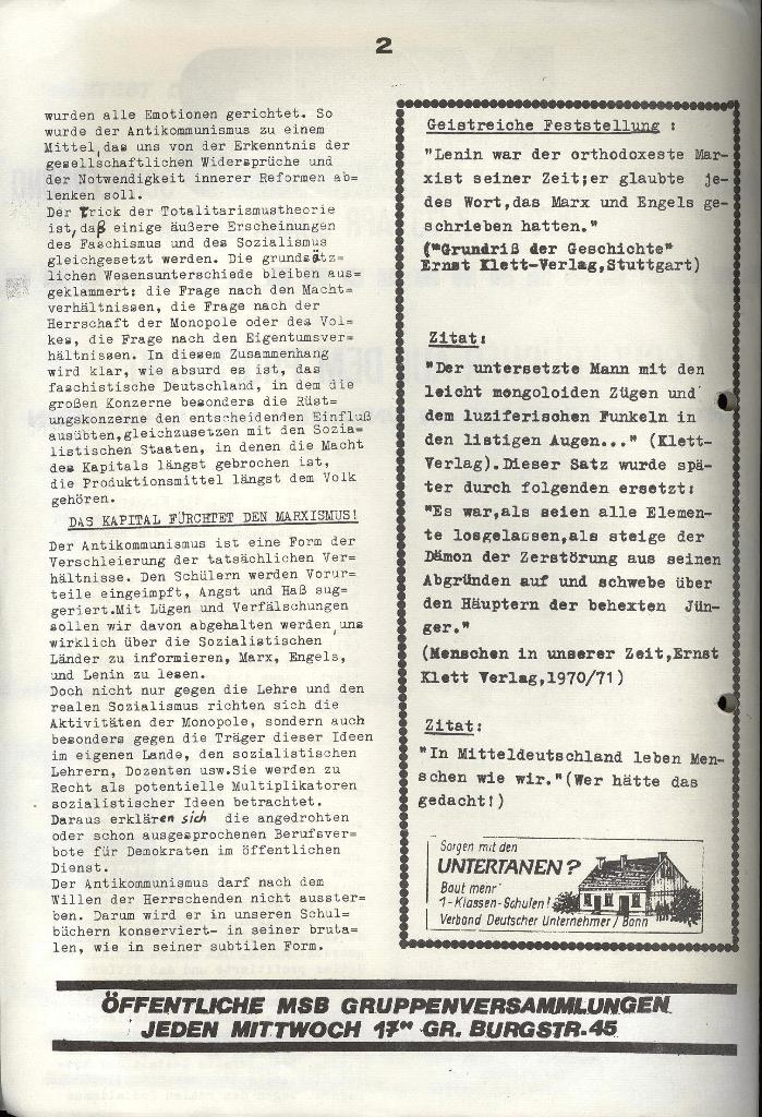Marxistischer Schülerbund: Info, 3. Jg., Nr. 7, Lübeck, April 1973, Seite 2