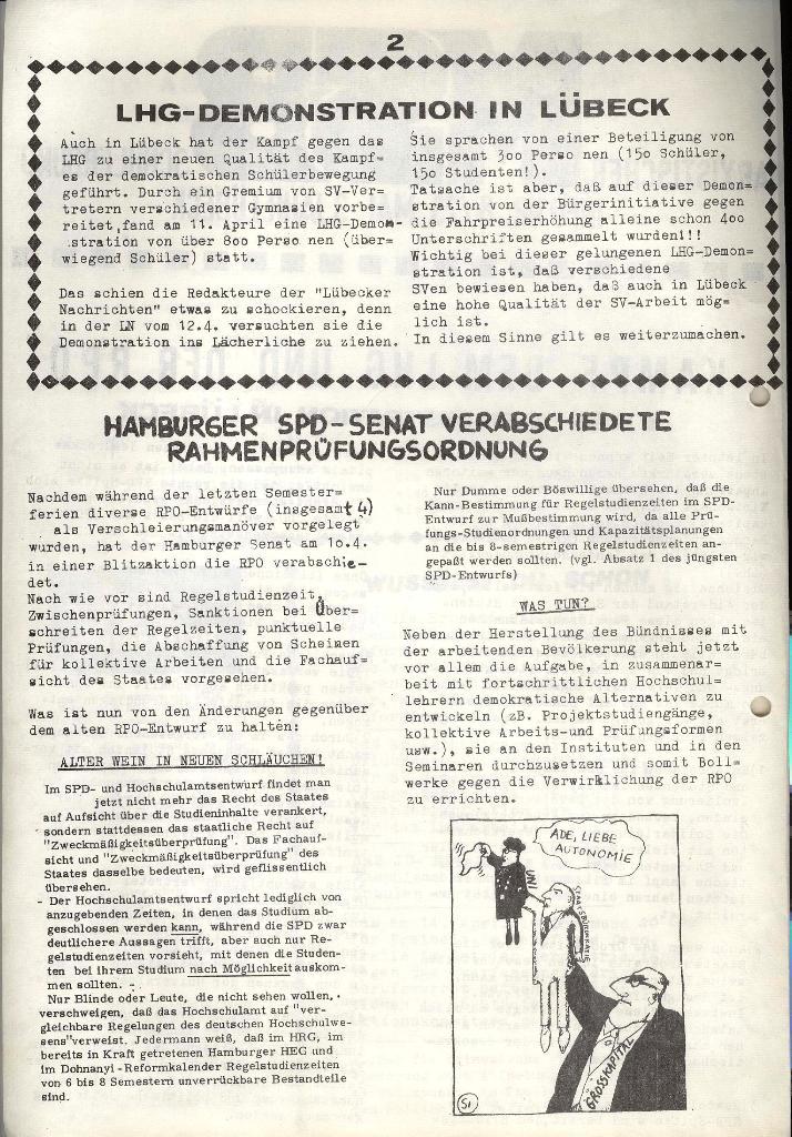 Marxistischer Schülerbund: Info, 3. Jg., Nr. 8, Lübeck, Mai 1973, Seite 2
