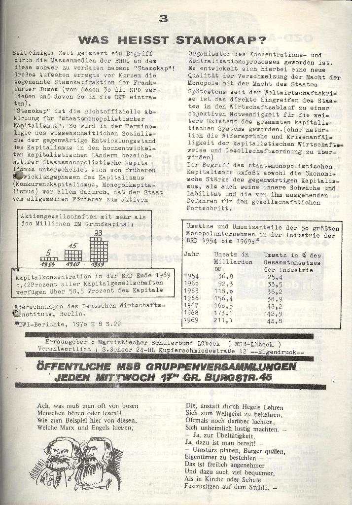 Marxistischer Schülerbund: Info, 3. Jg., Nr. 8, Lübeck, Mai 1973, Seite 3