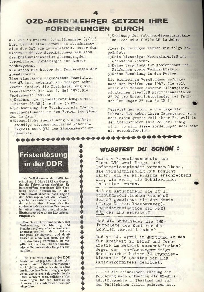 Marxistischer Schülerbund: Info, 3. Jg., Nr. 8, Lübeck, Mai 1973, Seite 4