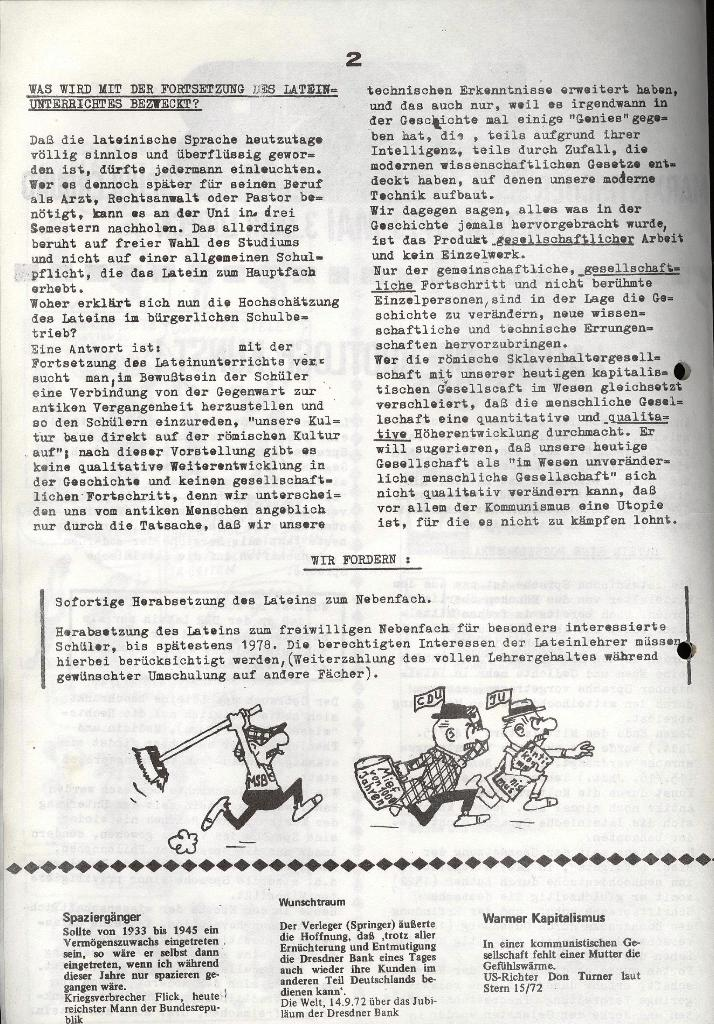 Marxistischer Schülerbund: Info, 3. Jg., Nr. 9, Lübeck, Mai 1973, Seite 2