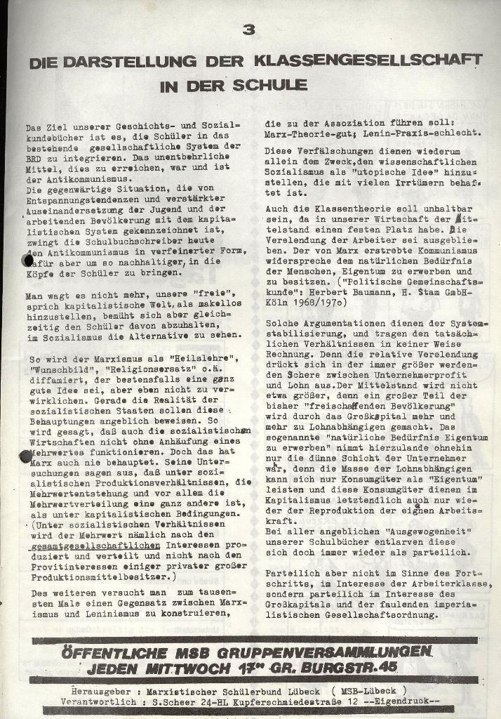 Marxistischer Schülerbund: Info, 3. Jg., Nr. 9, Lübeck, Mai 1973, Seite 3