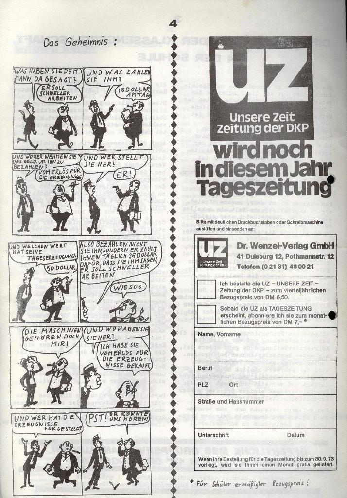 Marxistischer Schülerbund: Info, 3. Jg., Nr. 9, Lübeck, Mai 1973, Seite 4