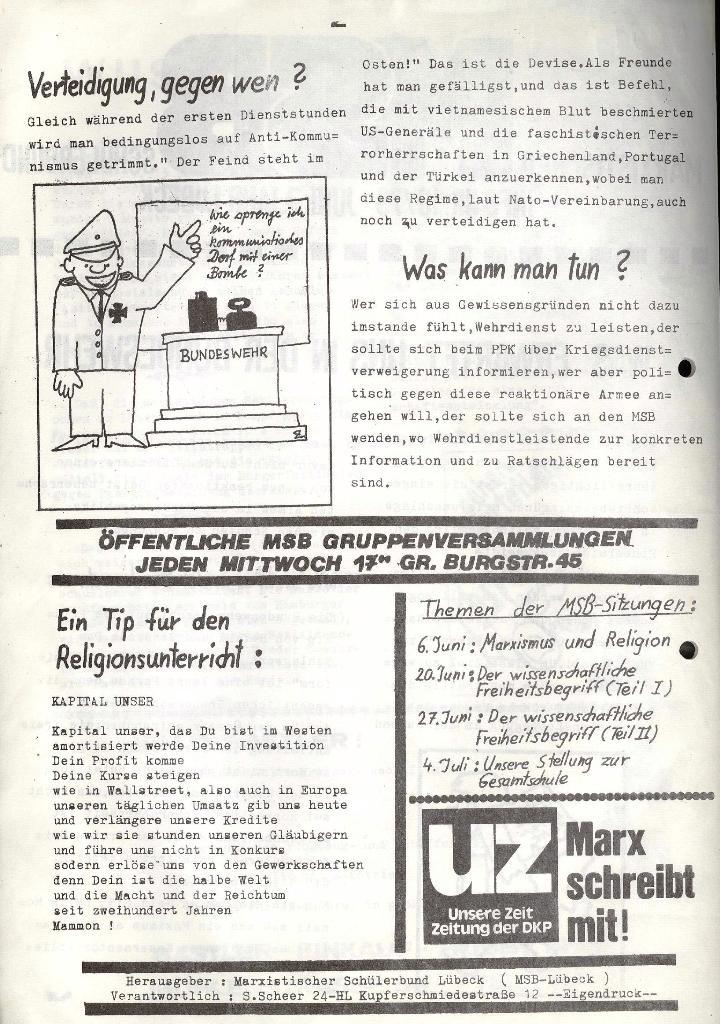 Marxistischer Schülerbund: Info, 3. Jg., Nr. 10, Lübeck, Juni 1973, Seite 2