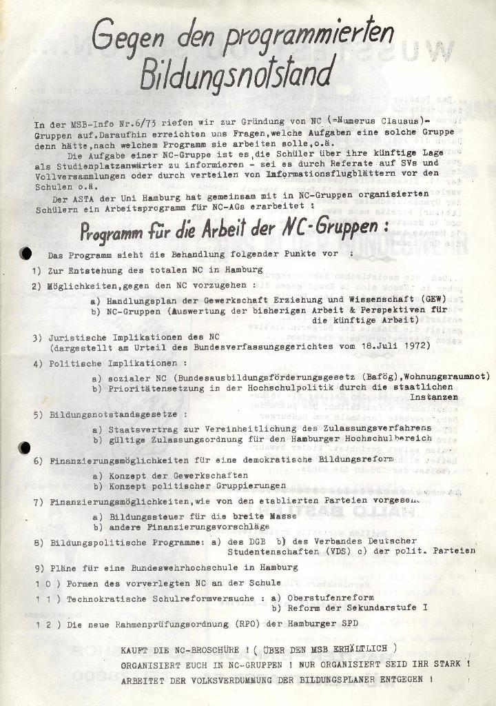 Marxistischer Schülerbund: Info, 3. Jg., Nr. 10, Lübeck, Juni 1973, Seite 3