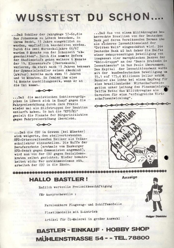 Marxistischer Schülerbund: Info, 3. Jg., Nr. 10, Lübeck, Juni 1973, Seite 4