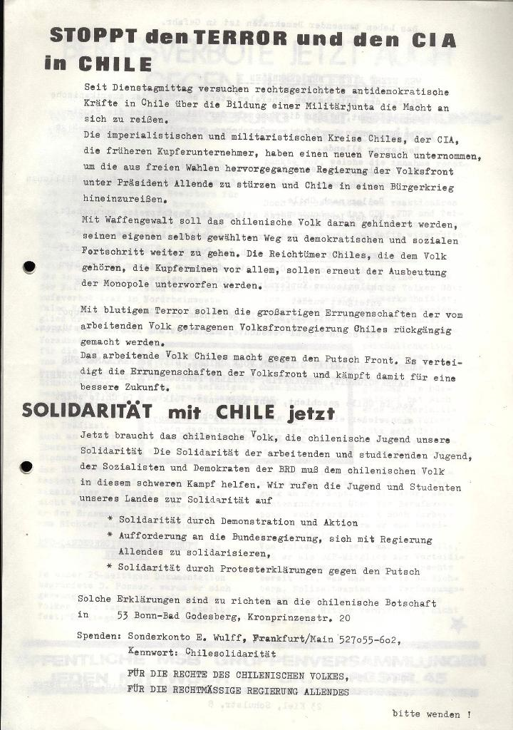 Marxistischer Schülerbund: Info, 3. Jg., Nr. 13, Lübeck, Sept. 1973, Belage, Seite 1