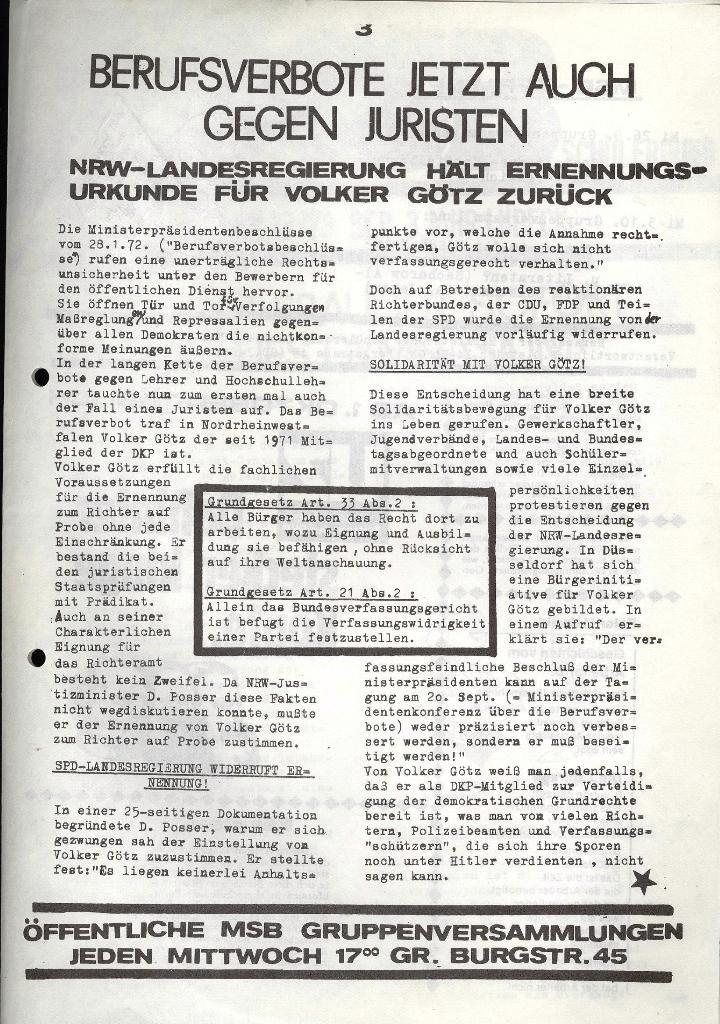 Marxistischer Schülerbund: Info, 3. Jg., Nr. 13, Lübeck, Sept. 1973, Seite 3