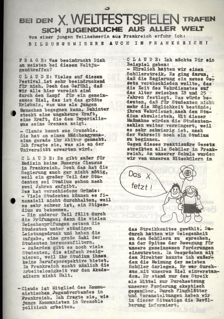 Marxistischer Schülerbund: Info, 3. Jg., Nr. 14, Lübeck, Okt. 1973, Seite 3