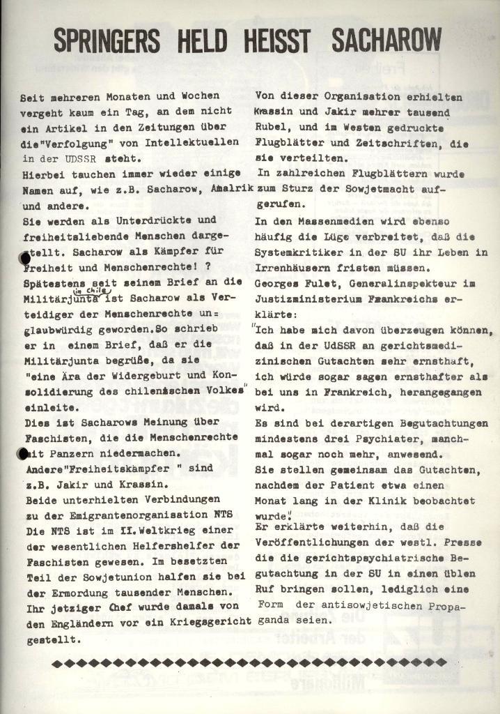 Marxistischer Schülerbund: Info, 3. Jg., Nr. 15, Lübeck, Okt. 1973, Seite 3