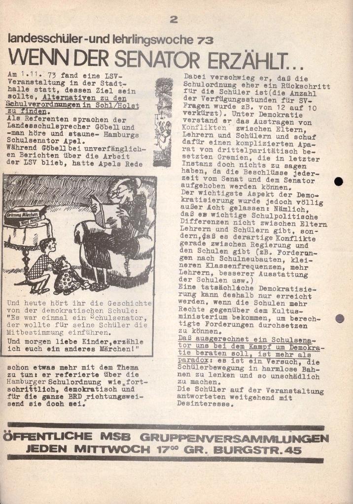 Marxistischer Schülerbund: Info, 3. Jg., Nr. 17, Lübeck, Dez. 1973, Seite 2