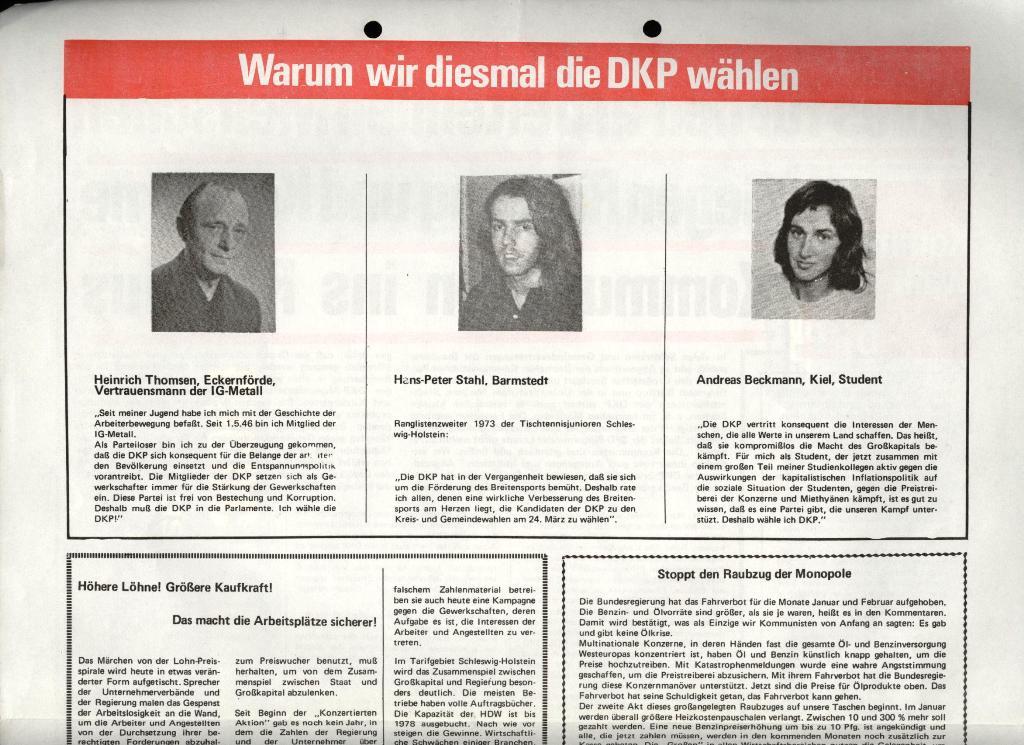 Marxistischer Schülerbund: Info, 4. Jg., Nr. 1, Lübeck, Jan. 1974, Beilage, Seite 3