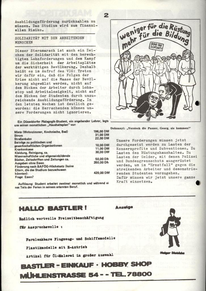 Marxistischer Schülerbund: Info, 4. Jg., Nr. 2, Lübeck, Feb. 1974, Seite 2