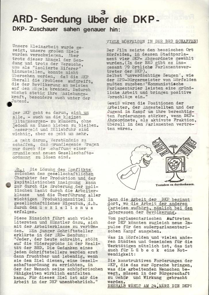 Marxistischer Schülerbund: Info, 4. Jg., Nr. 2, Lübeck, Feb. 1974, Seite 3