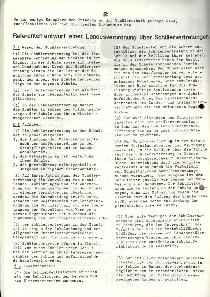 Marxistischer Schülerbund: Info, 4. Jg., Nr. 3, Lübeck, Feb. 1974, Seite 2