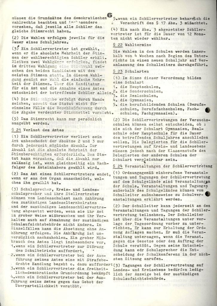 Marxistischer Schülerbund: Info, 4. Jg., Nr. 3, Lübeck, Feb. 1974, Seite 6