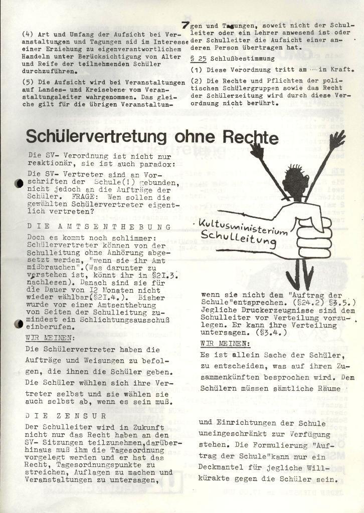 Marxistischer Schülerbund: Info, 4. Jg., Nr. 3, Lübeck, Feb. 1974, Seite 7