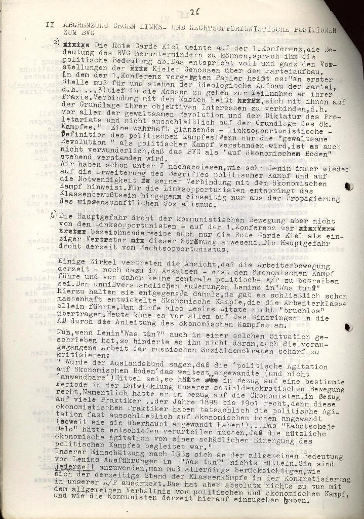 Erklärung des KB/ML Lübeck vom 18.10.1971