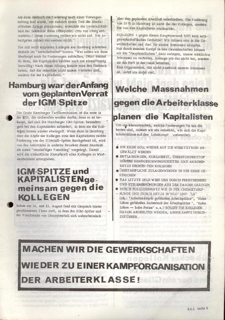 Kommunistische Arbeiterzeitung, Jg. 1, Nr. 1, Sept. 1971, Seite 3