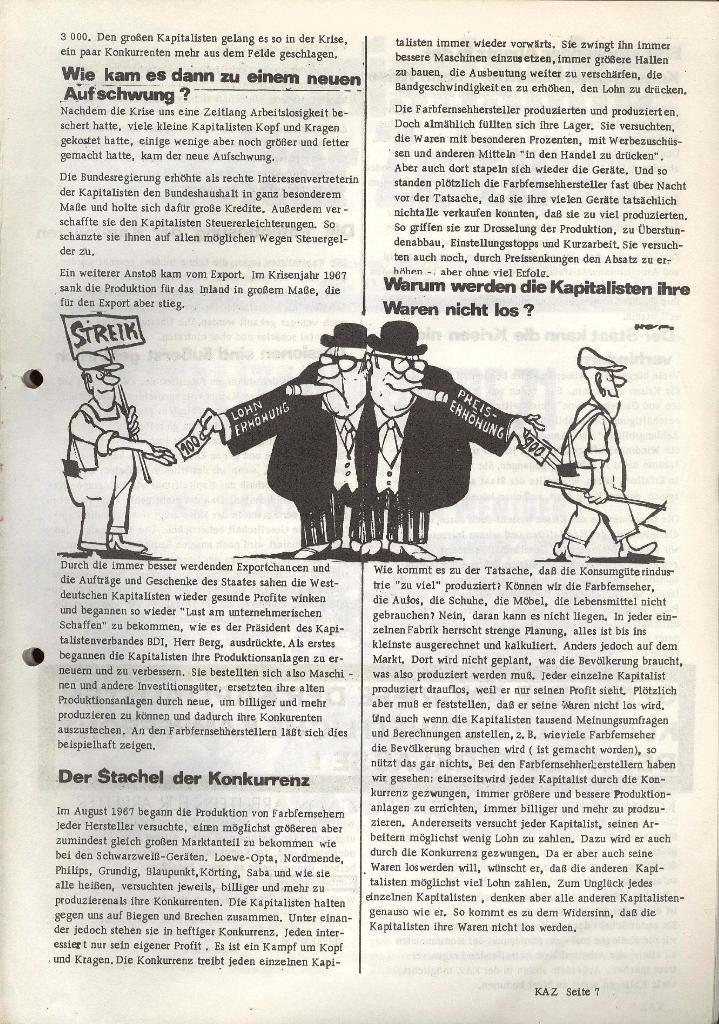 Kommunistische Arbeiterzeitung, Jg. 1, Nr. 1, Sept. 1971, Seite 7