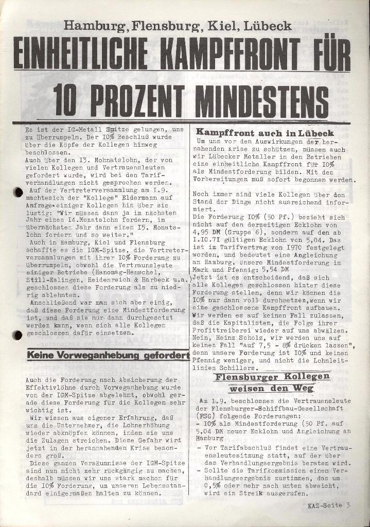 Kommunistische Arbeiterzeitung, Jg. 1, Nr. 2, Sept. 1971, Seite 3