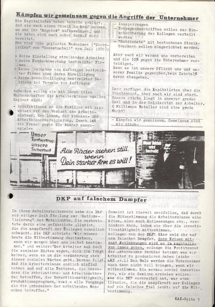 Kommunistische Arbeiterzeitung, Jg. 1, Nr. 2, Sept. 1971, Seite 5
