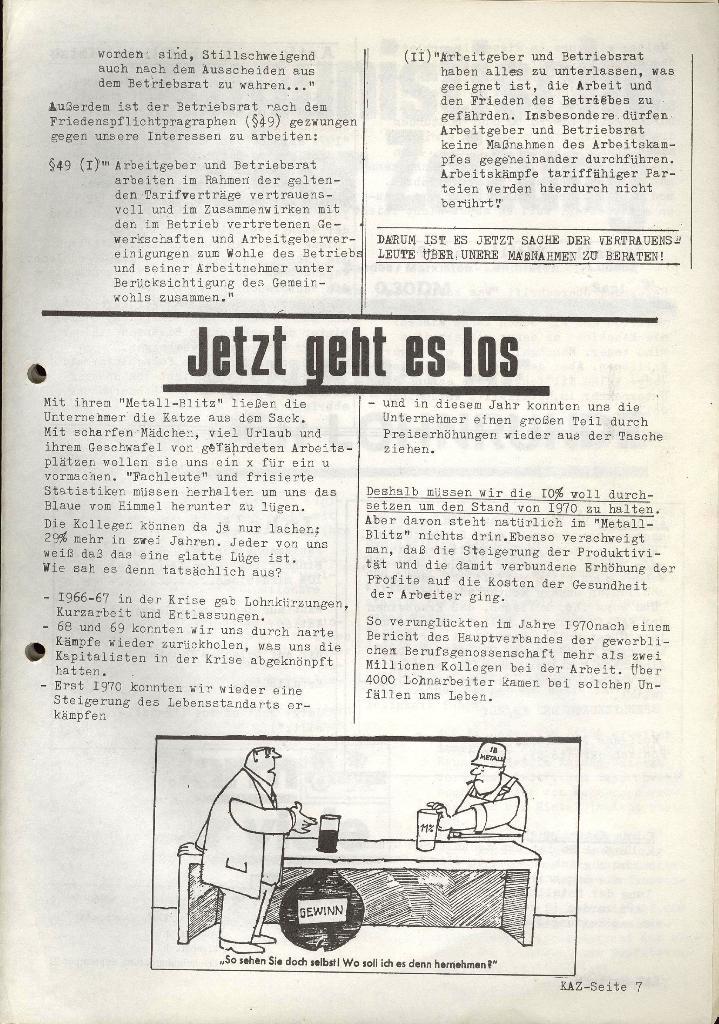 Kommunistische Arbeiterzeitung, Jg. 1, Nr. 2, Sept. 1971, Seite 7