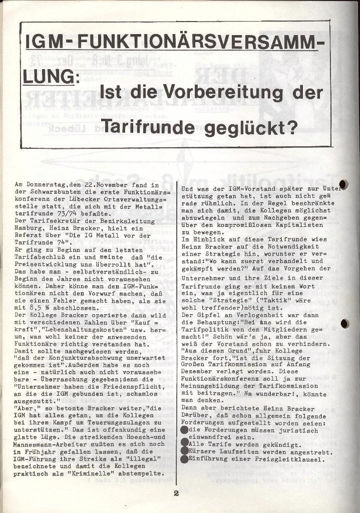 Der Metallarbeiter _ Zeitung des KB/ML, Jg. 3, Nr. 8, Dezember 1973, Seite 2