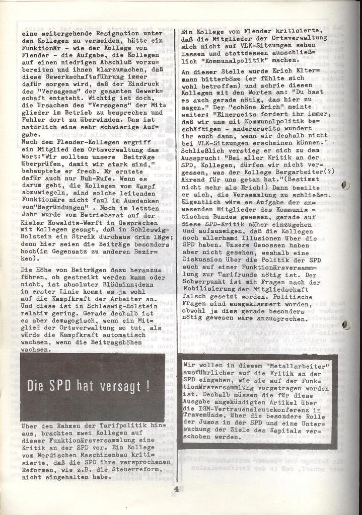 Der Metallarbeiter _ Zeitung des KB/ML, Jg. 3, Nr. 8, Dezember 1973, Seite 4
