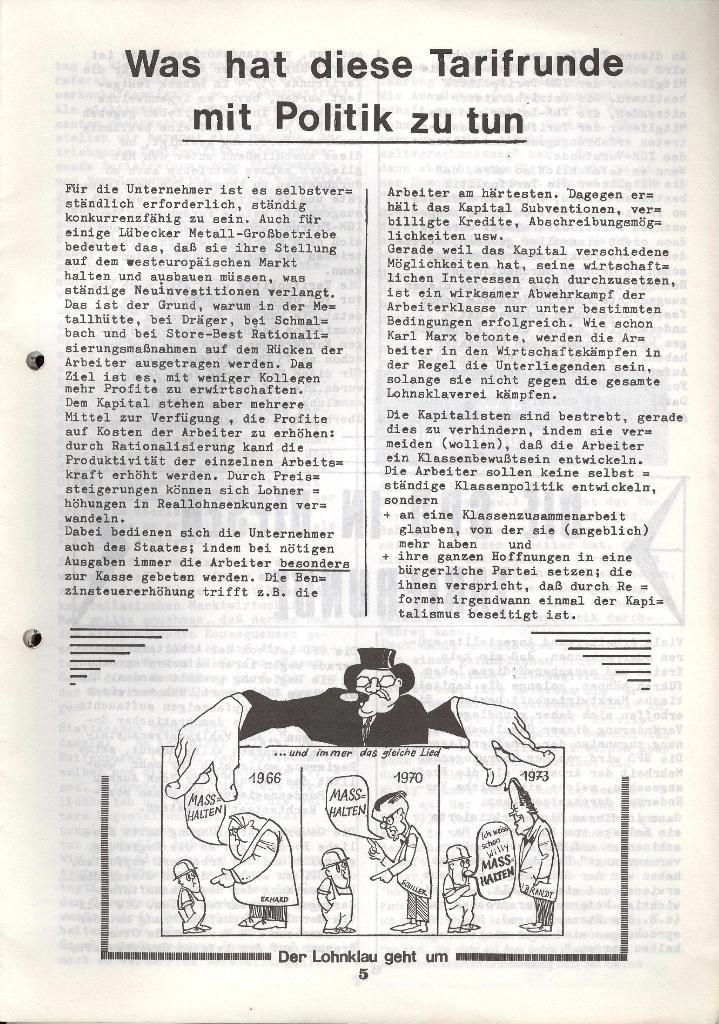 Der Metallarbeiter _ Zeitung des KB/ML, Jg. 3, Nr. 8, Dezember 1973, Seite 5
