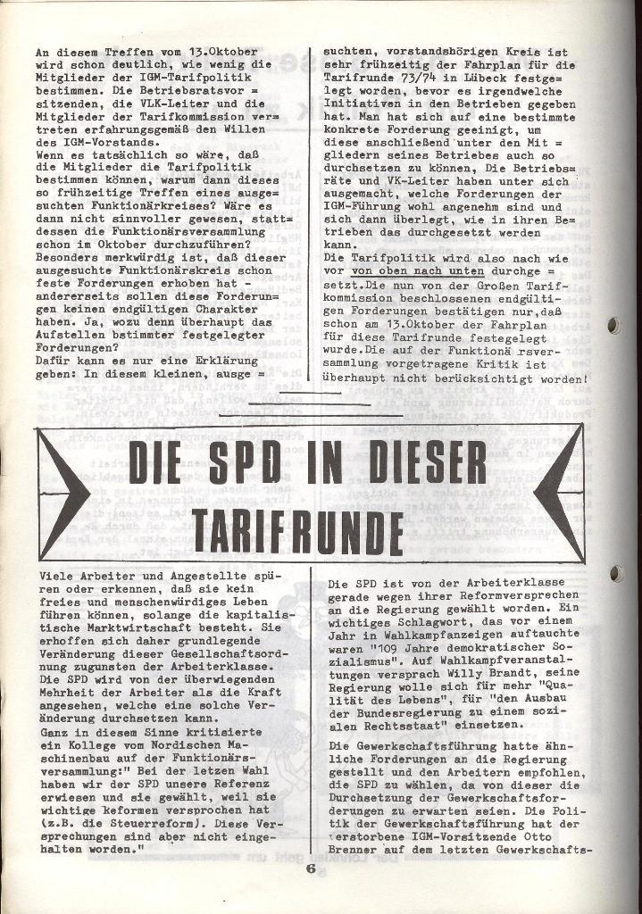Der Metallarbeiter _ Zeitung des KB/ML, Jg. 3, Nr. 8, Dezember 1973, Seite 6