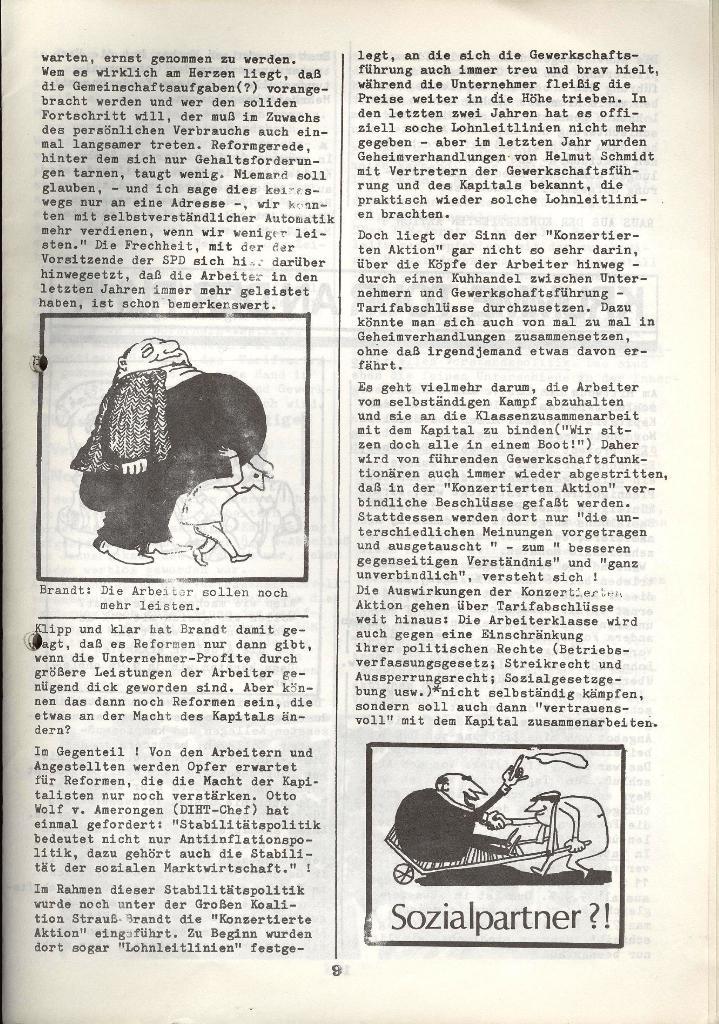 Der Metallarbeiter _ Zeitung des KB/ML, Jg. 3, Nr. 8, Dezember 1973, Seite 9