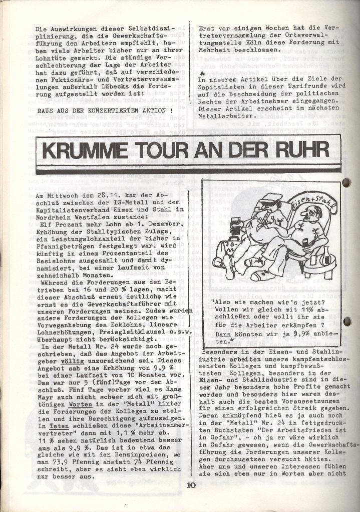 Der Metallarbeiter _ Zeitung des KB/ML, Jg. 3, Nr. 8, Dezember 1973, Seite 10