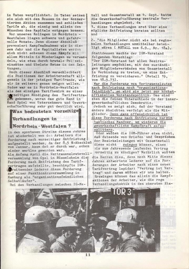 Der Metallarbeiter _ Zeitung des KB/ML, Jg. 3, Nr. 8, Dezember 1973, Seite 11