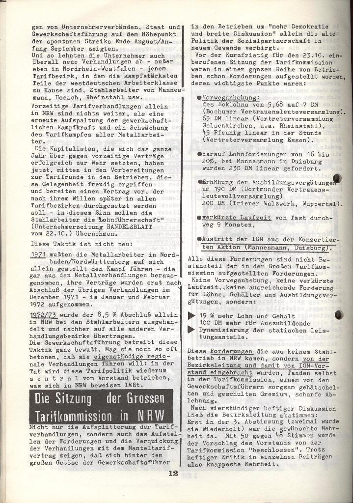 Der Metallarbeiter _ Zeitung des KB/ML, Jg. 3, Nr. 8, Dezember 1973, Seite 12
