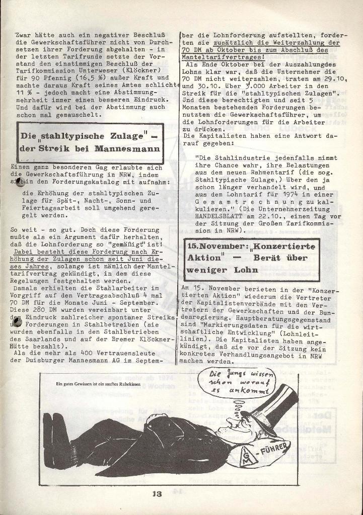 Der Metallarbeiter _ Zeitung des KB/ML, Jg. 3, Nr. 8, Dezember 1973, Seite 13