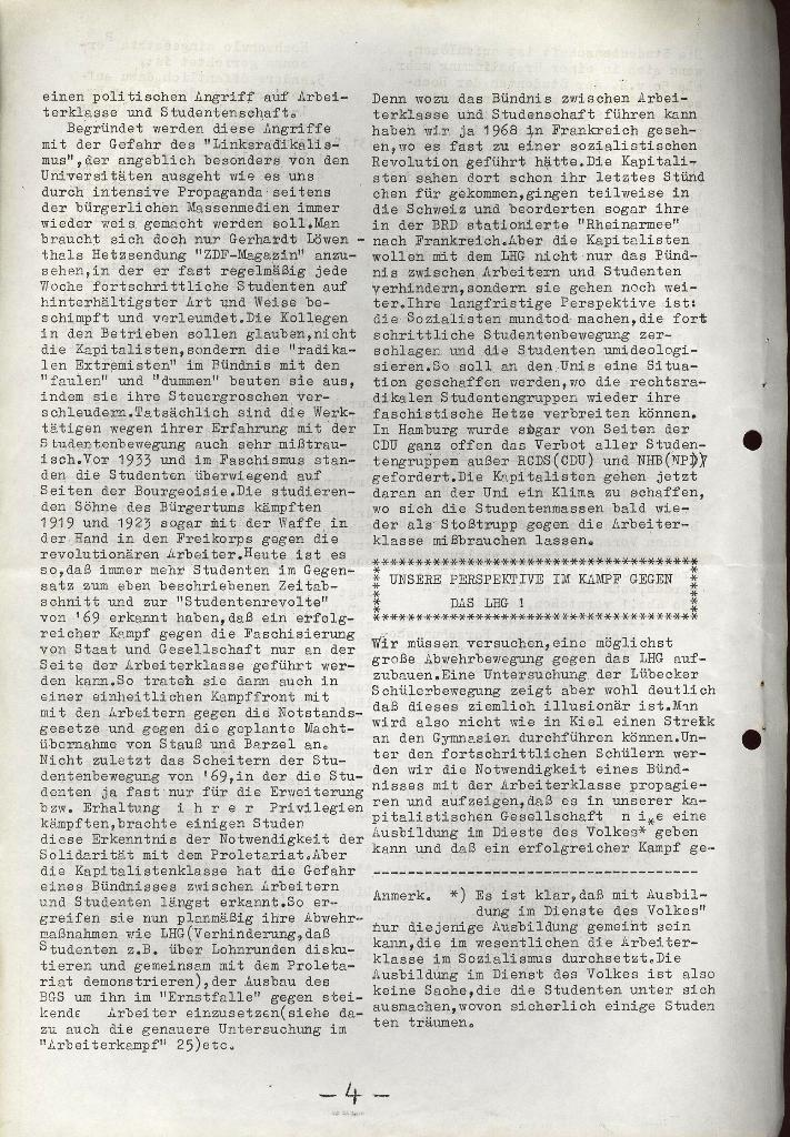 Schüler_Zeitung des KSB Lübeck, Nr. 5 (1973), Seite 4
