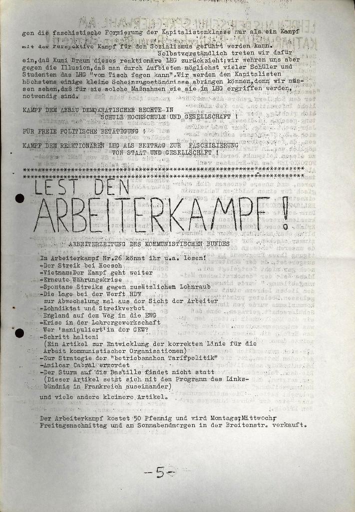 Schüler_Zeitung des KSB Lübeck, Nr. 5 (1973), Seite 5