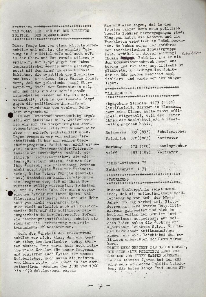 Schüler_Zeitung des KSB Lübeck, Nr. 5 (1973), Seite 7