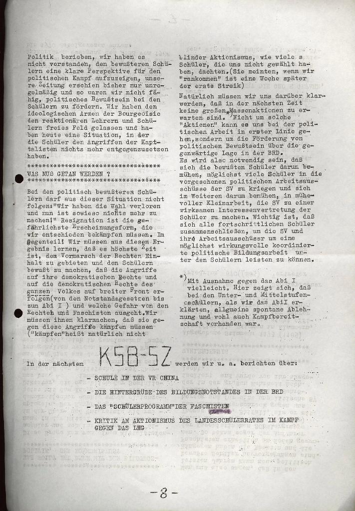 Schüler_Zeitung des KSB Lübeck, Nr. 5 (1973), Seite 8