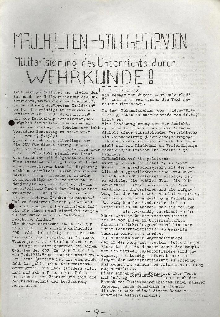 Schüler_Zeitung des KSB Lübeck, Nr. 5 (1973), Seite 9