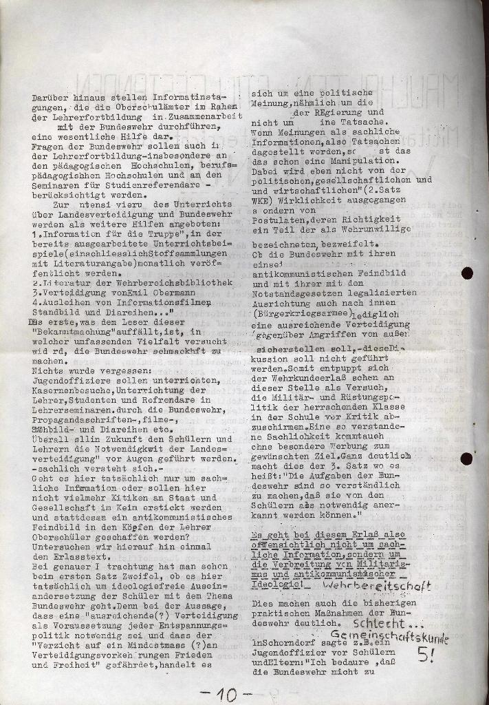Schüler_Zeitung des KSB Lübeck, Nr. 5 (1973), Seite 10