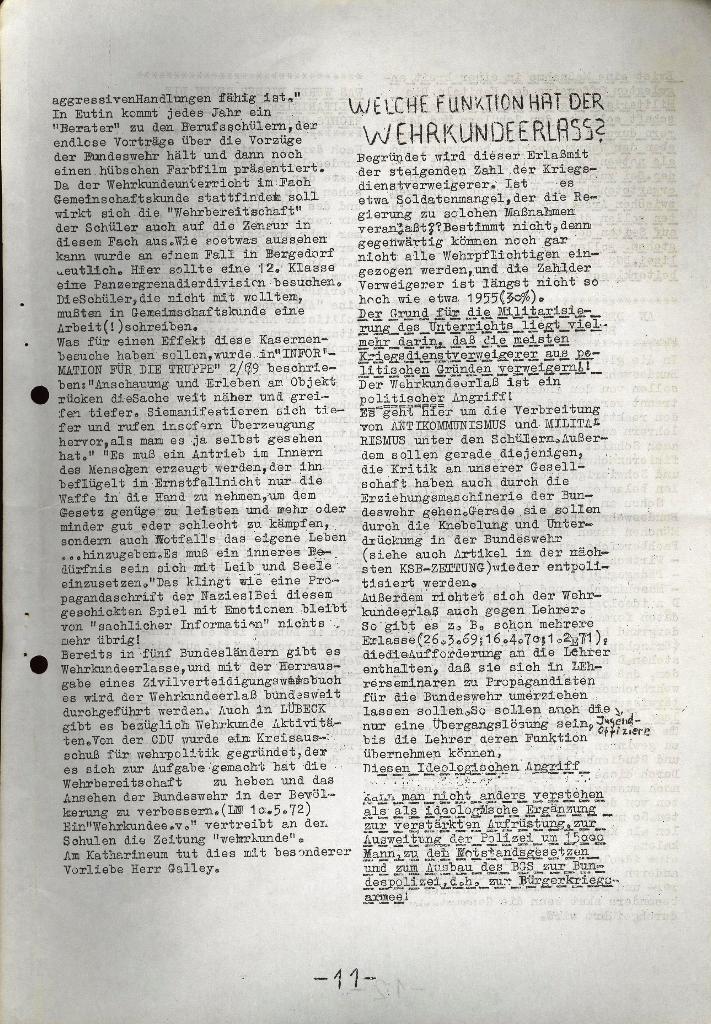 Schüler_Zeitung des KSB Lübeck, Nr. 5 (1973), Seite 11